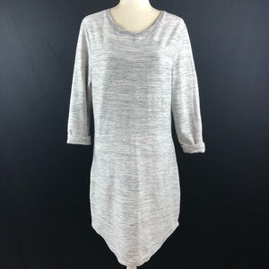 Gap Gray Marled Sweater Dress